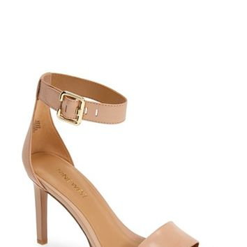 Women's Nine West 'Meant to be Minimal' Leather Ankle Strap Sandal,