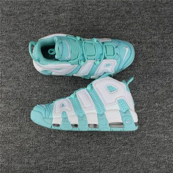 PEAPGE2 Beauty Ticks Nike Air More Uptempo 96 Scottie Pippen Mint Green Basketball Shoes Size Us5.5-8.5