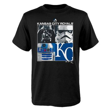 Majestic Kansas City Royals Star Wars Main Character Tee - Boys 8-20, Size: