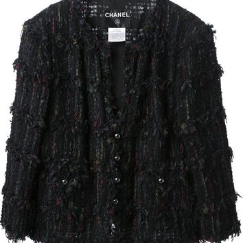 Chanel Vintage Gothic Tweed Jacket