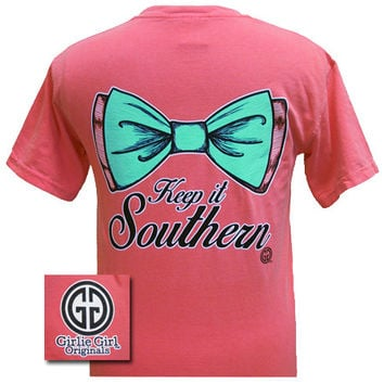 Girlie Girl Originals Collection Keep It Southern Big Bow Watermelon Comfort Colors T Shirt
