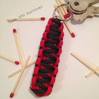 550 Paracord Keychain: Emergency Fire Starter Survival Gear