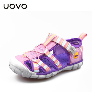 UOVO coloful fabric 2015 new arrival children sandals shoes kids summer sandalen designer fashion sandals for girls and boys