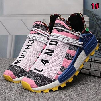 Adidas Human Race NMD Fashion Woman Men Comfortable Sport Running Shoes Sneakers 1# Pink I/A