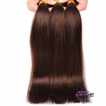 Dark Brown Brazilian Straight Hair Extensions