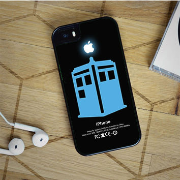 dr who tardis with apple logo iPhone 5(S) iPhone 5C iPhone 6 Samsung Galaxy S5 Samsung Galaxy S6 Samsung Galaxy S6 Edge Case, iPod 4 5 case