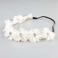 Full Tilt Chiffon Flower Headband Ivory One Size For Women 21998716001