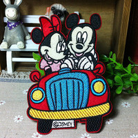 Disney Mickey Mouse and Minnie Mouse iron on patch by happysupply