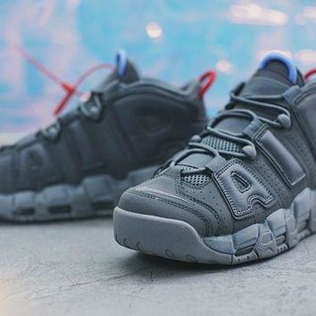 PEAPNT Nike Air More Uptempo Basketball Shoes ¡°Dark Graya??921948-701