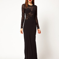 Jonathan Saunders Devore Long Sleeve Maxi Dress at asos.com