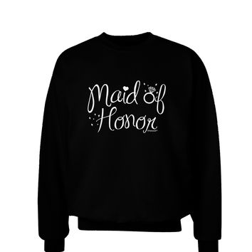 Maid of Honor - Diamond Ring Design Adult Dark Sweatshirt