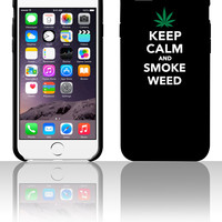 Keep calm and smoke weed 1 5 5s 6 6plus phone cases