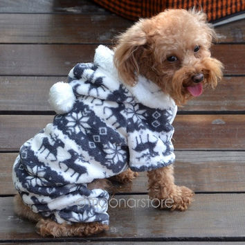 Warm Winter Soft Hoodie Jumpsuit Coat Clothes Costume For Pet Dog Puppy HOT Cute [7652350470]