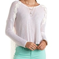 Lace-Trim Flyaway High-Low Top by Charlotte Russe