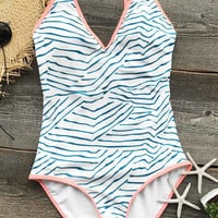 Cupshe Season Of Beach One-piece Swimsuit