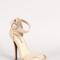 Anne Michelle Simple Nubuck Open Toe Heel