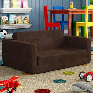 Kids Flip Open Sofa Sleeper Bed Bedroom Playroom Game Room Furniture