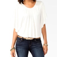 Embroidered Inset Cape Top