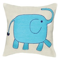 Amity Home Elephant Decorative Pillow - White