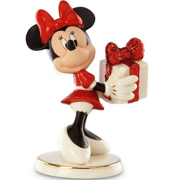Disney's Wrapped with Love by Minnie Figurine by Lenox