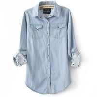 Light Blue Denim Shirt from Charmaco