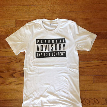 Parental Advisory Advised Explicit Content Unisex clothing brandy melville inspired graphic tee women's clothing brandy melville