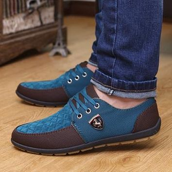 NEW brand Swede Leather casual men's shoe matching flat shoes Men shoes tenis masculino