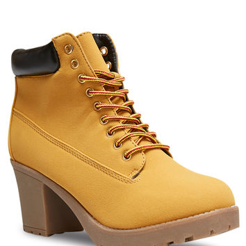 Chunky Heeled Hiking Boots | Wet Seal