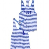 Kansas City Royals High-Low Striped Tank