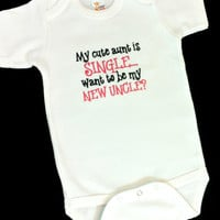 Baby Girls or Boys Onesuit - Bodysuit - Embroidered Outfit - Baby Shower Gifts - Aunt - Uncle - Girls Clothing -