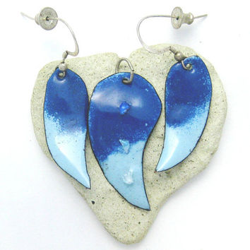 Dichroic Enameled Set by Chris1 on Etsy