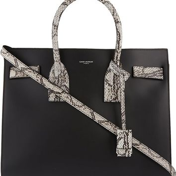 SAINT LAURENT - Sac de Jour small python detail tote | Selfridges.com