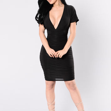 Confessions Of My Love Dress - Black