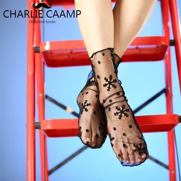 CHARLIE CAAMP Spring And Summer New Nylon Thin Fashion Pattern Sexy Series Ladies Tube Heap Socks Silk Sockings A3002