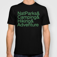 National Parks & Hiking & Camping & Adventure T-shirt by New Rustic Future