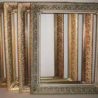 4 Vintage Gold Filigree Picture Frames Shabby Chic Wedding Decor