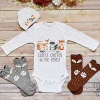 Cutest Critter Onesuit, Cutest Critter, Baby Boy Clothes, Baby Boy Onesuit