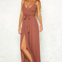 Knock On Wood Jumpsuit Dark Blush