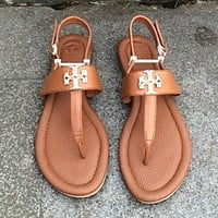 Tory Burch Women Fashion Leather Sandals Flats Shoes