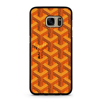 Goyard Orange Pattern Samsung Galaxy S7 Case