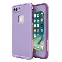 Lifeproof 77-56984 FRĒ SERIES Waterproof Case for iPhone 8 Plus & 7 Plus (ONLY) - Retail Packaging - CHAKRA (ROSE/FUSION CORAL/ROYAL LILAC)