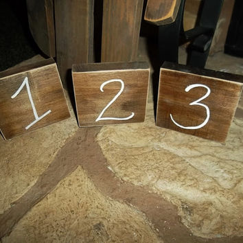 Rustic Table Numbers Set of 15, Wedding Table Numbers, Rustic Wedding Decor, Country Wedding Decor, Wood Table Numbers