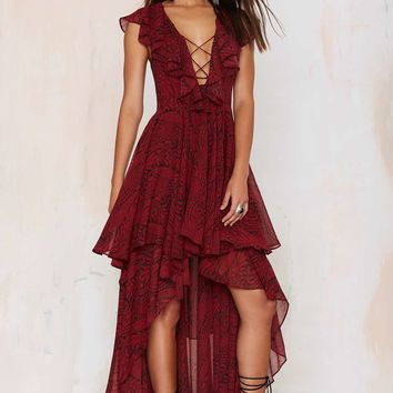 The Jetset Diaries Goddess Lace-Up Dress