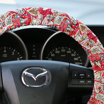 Steering Wheel Cover Bow Wheel Car Accessories Lilly Heated Interior Aztec Monogram Girls Tribal Camo Cheetah Sterling Chevron Hearts Floral