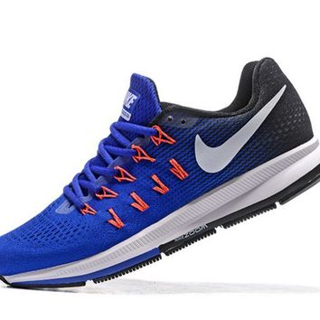 Fashion Online Nike Fashion Casual Breathable Running Shoes Sapphire Blue Orange