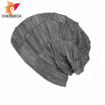 2018 Big Discount CHESSIECA Fashion Plaid Caps Autumn Winter Warm Men's Women's Knitted Wool Hat Skullies  Plush For GirlKawaii Pokemon go  AT_89_9