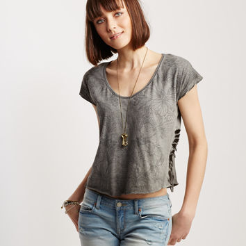 Hibiscus Side Slit Boxy Top