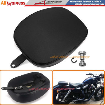 For 2010-2015 Harley Davidson XL 1200X 48 Forty-Eight XL 1200V 72 Seventy Two Black Leather Pillion Pad Rear Passenger Seat