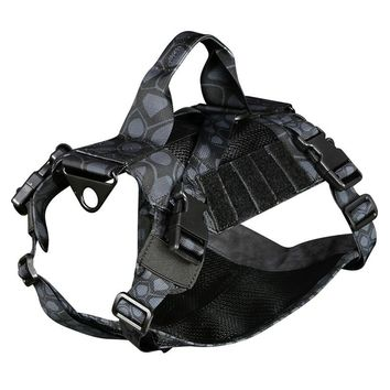 Tactical military k9 Breathable dog clothes harness adjustable size Training Hunting Molle Dog Vest Harness