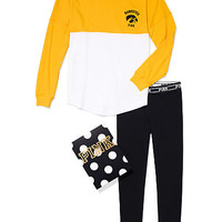 University of Iowa Pocket Varsity Crew and Leggings Gift Set - PINK - Victoria's Secret